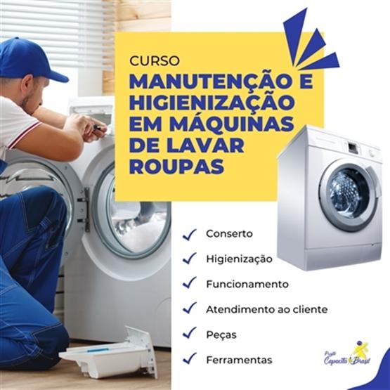 Manutenção e higienização em máquinas de lavar roupas